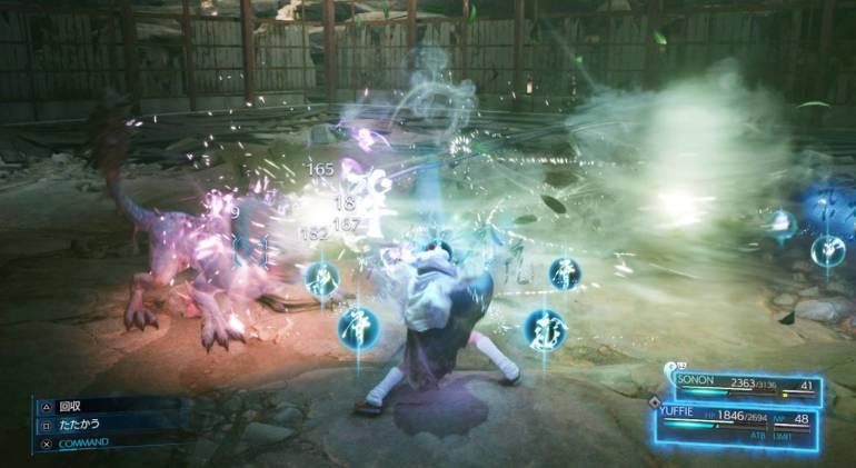 yuffie combat 2
