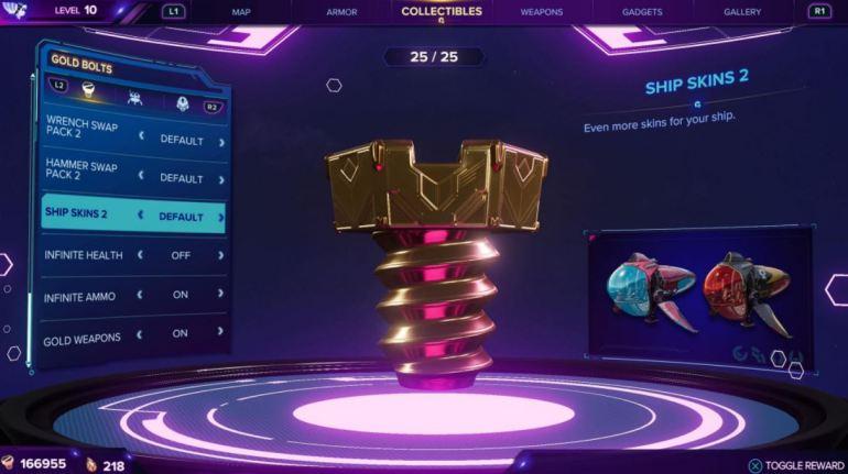Rift Apart - All Gold Bolt Rewards 10