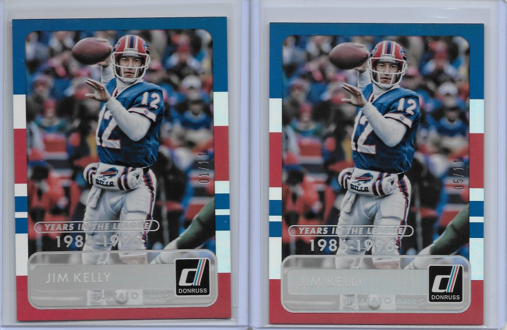 Jim Kelly 2015 Donruss #182 Years in the League Front