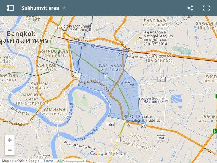 mappa Bangkok Sukhumvit Road
