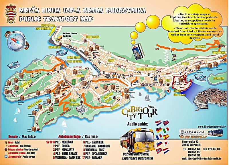 mappa quartieri Dubrovnik