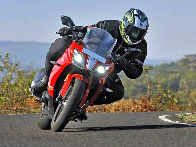 TVS Apache RTR 310, Learn bike riding from Onemoto, Motorcycle cornering, how to get a driving licence in india