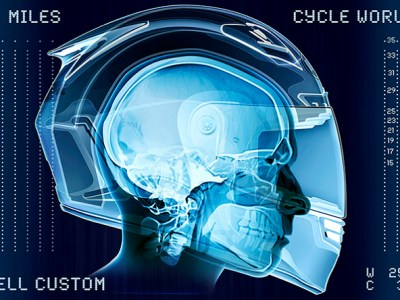 skull and helmet, how a helmet protects your head, full face motorcycle helmet