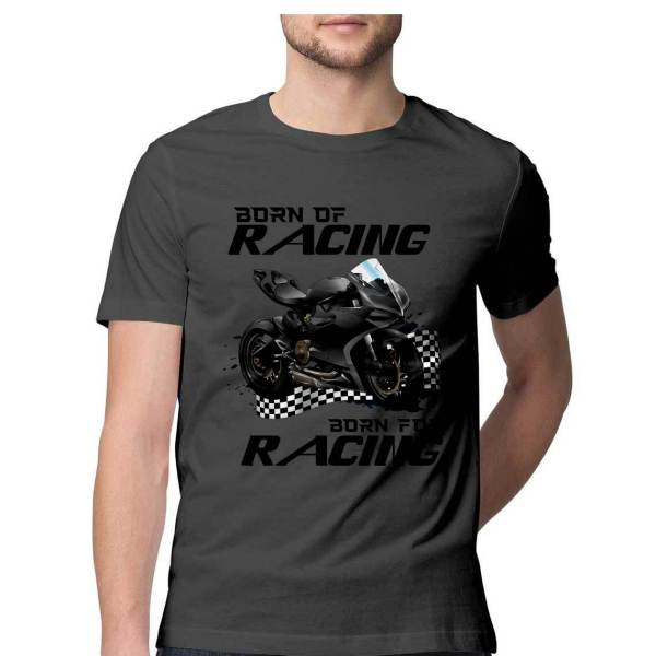 half sleeve graphic ducati t shirt for men