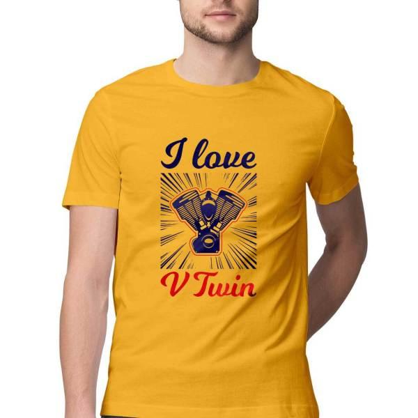 V Twin engine biker t shirt