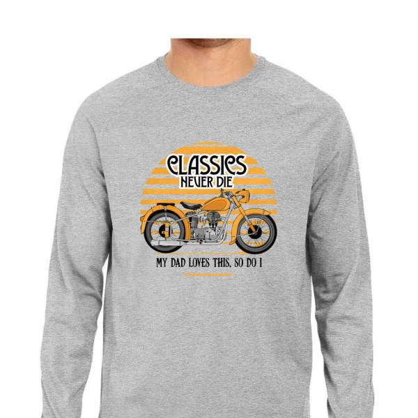 classic motorcycle biker shirt for men and women