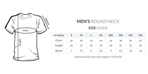 Biker motorcycle t shirt size guide