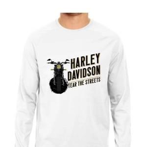 harley davidson hd full sleeve round neck biker shirt for men and women