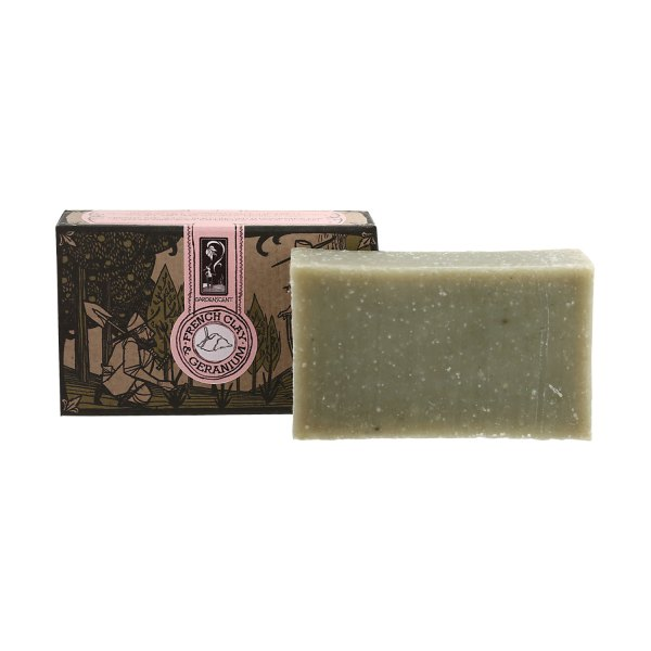 GardenScent Organic Handcrafted French Clay And Geranium Bar Soap