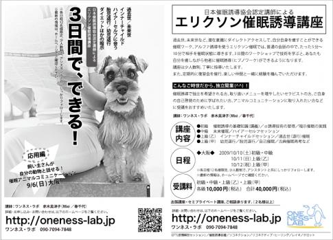 今週末:エリクソン催眠講座・大阪