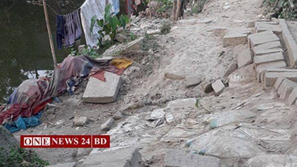 সাত বছর ধরে চলাচলের অযোগ্য নিকলী উপজেলার মাইজহাটির রাস্তাটি