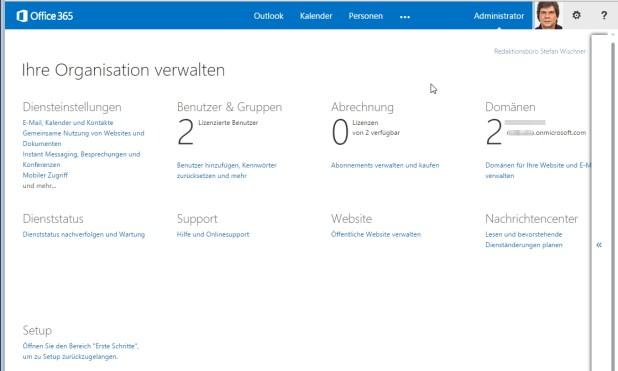 Manche Office-365-Pläne enthalten gehostete SharePoint- oder Exchange-Server. Die lassen sich auch von   nicht-IT-Profis per Browser konfigurieren und verwalten.