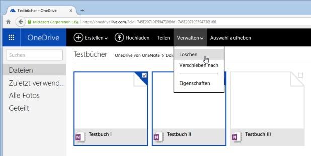 Ein Weg, überflüssige Dateien loszuwerden, führt via Webbrowser in das OneDrive-Verzeichnis.