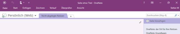 Sieht ein bisschen aus wie OneNote auf dem Mac oder iPad. Das liegt aber nur an der violetten Menüleiste.