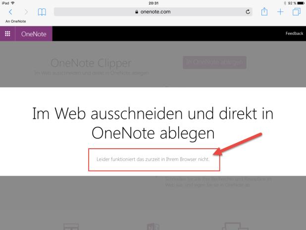 iOS-Safari Fehlanzeige: Nutzer von iPad und iPhone müssen noch auf die Lesezeichen-Variante zurückgreifen.