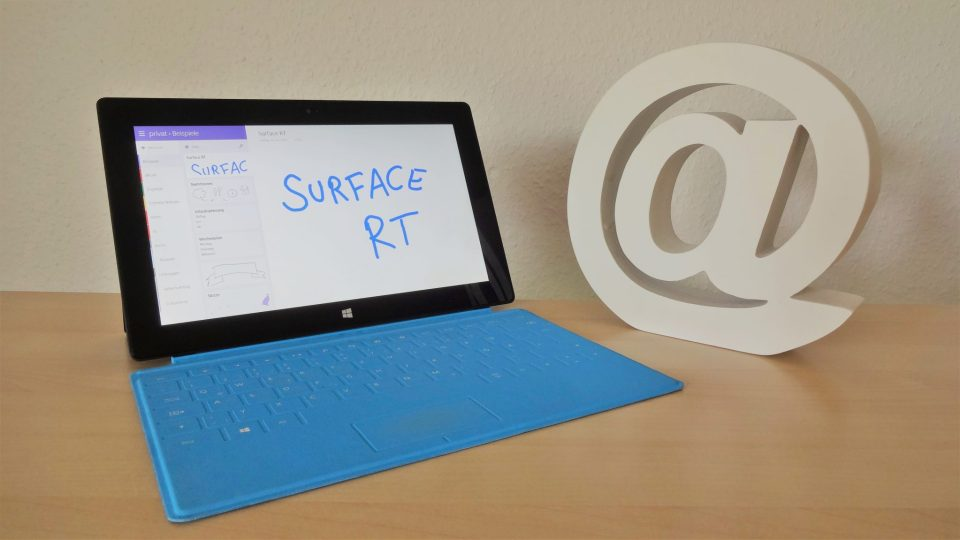 Microsoft Surface RT mit OneNote