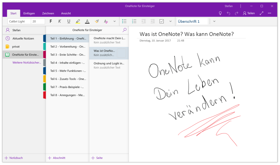 OneNote App für Windows 10
