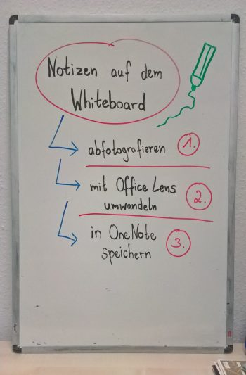 Whiteboard-Scan mit Office Lens