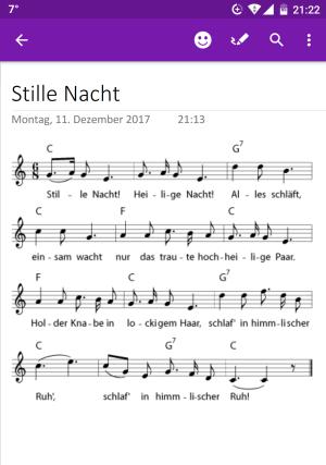 Weihnachtslied in OneNote