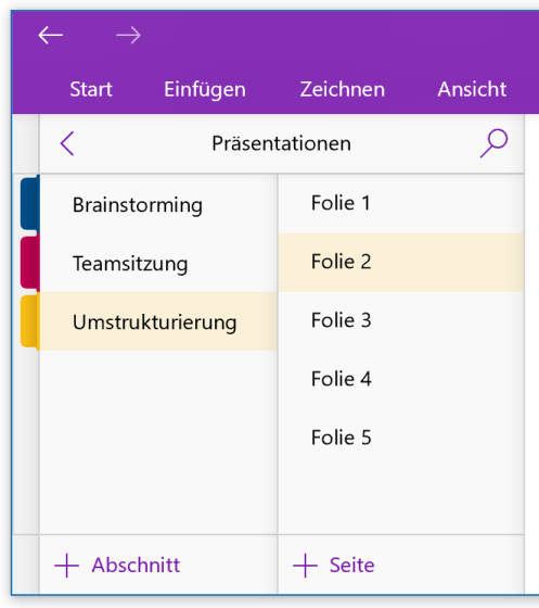 Präsentations-Folien in OneNote statt PowerPoint