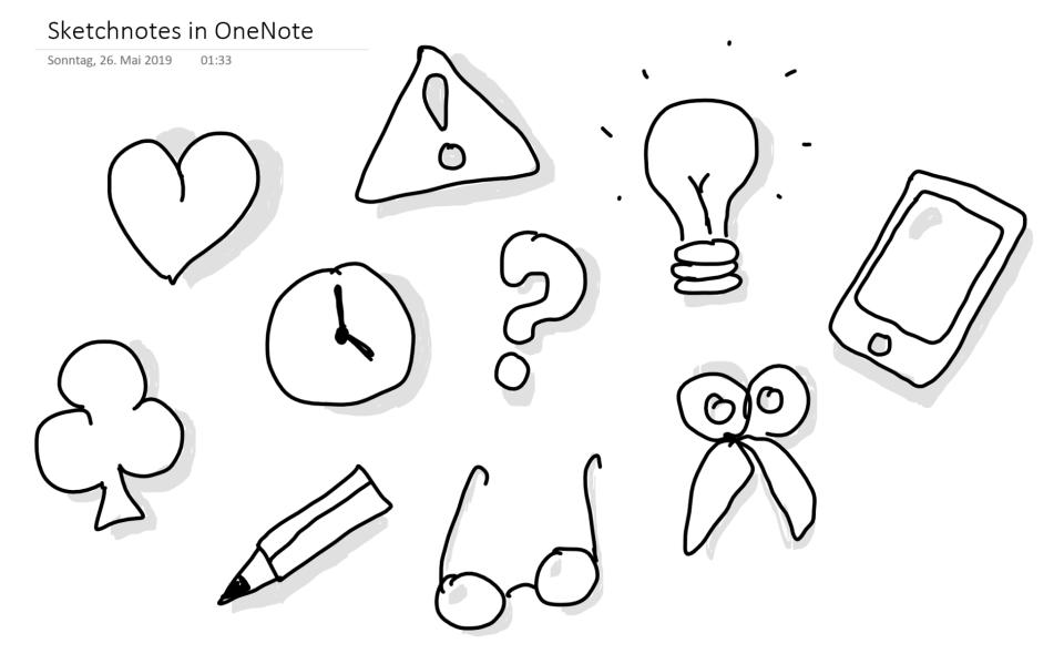 Sketchnotes in OneNote