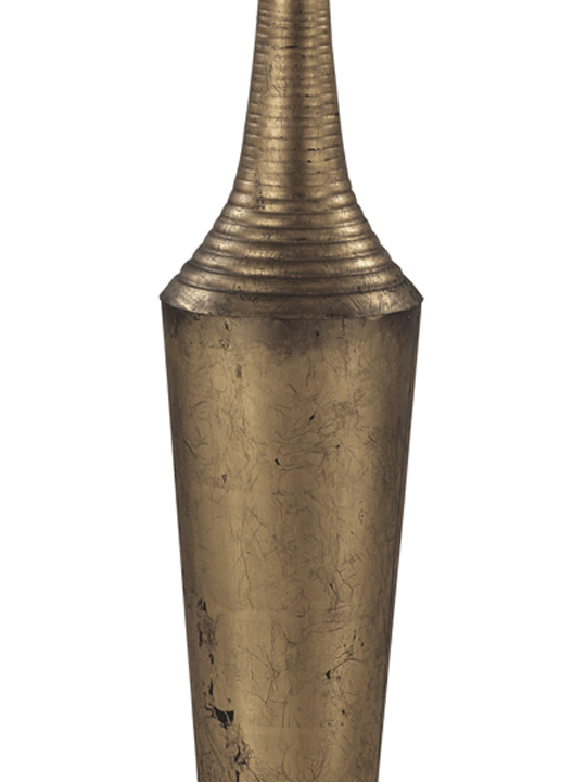 Antique Gold Floor Vase Detail