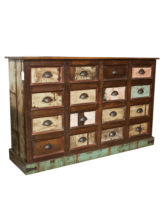 Multiple Drawer Reclaimed Wood Console - One of a Find Furniture and Accents - Michigan