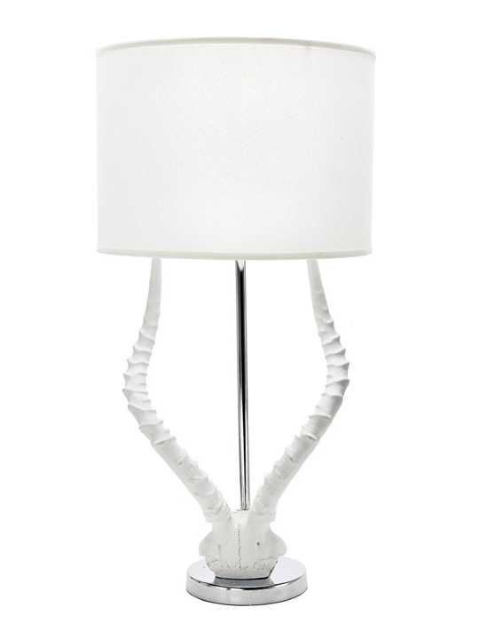 White Resin Faux Horn Lamp - One of a Find Furniture and Accents - Michigan