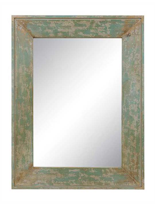 Distressed Blue Mirror