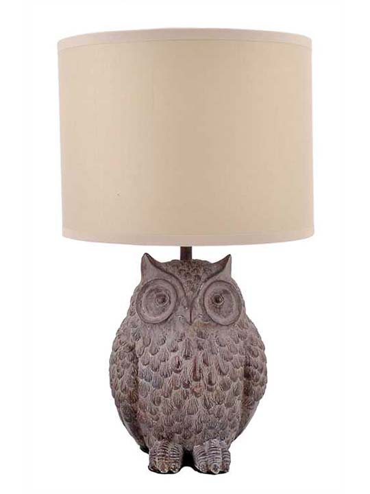 Resin Owl Lamp