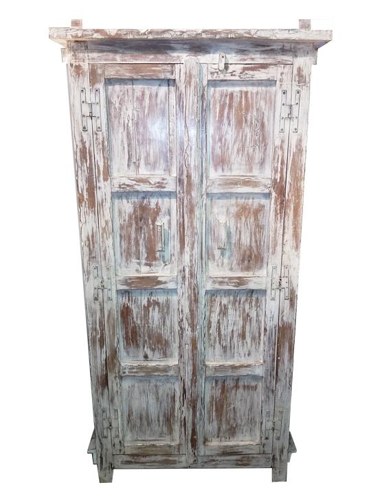 whitewashed cabinet