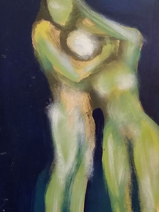 Couple Embracing Painting