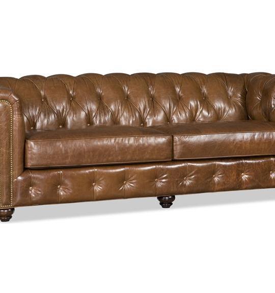 Cameron Leather Stationary Sofa