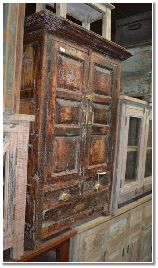 Two Door Rustic Armoire (063) Image