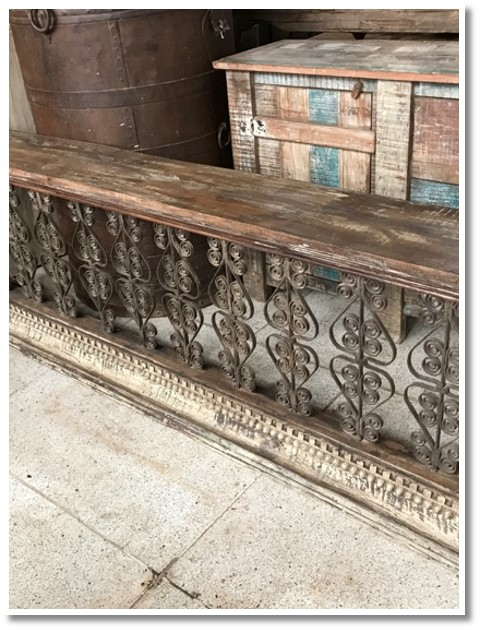 Wood and Metal Console (090) Image