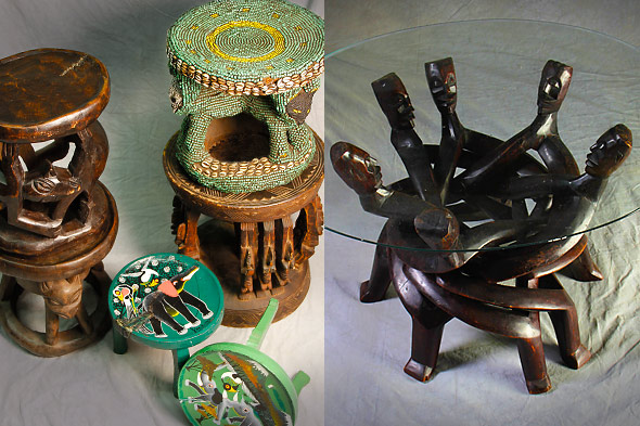 African Furniture Hand Carved Stools Tables And Chairs One Of A Kind Africa African Art