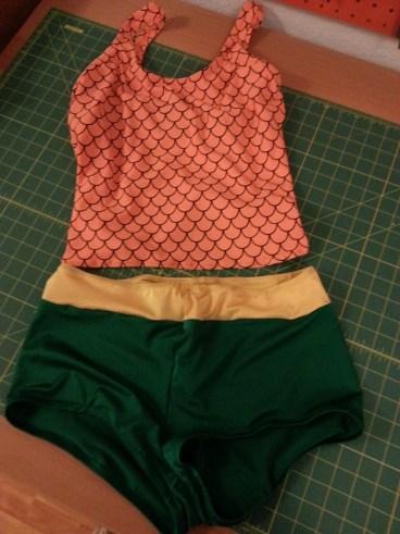 two-piece aquaman bathingsuit