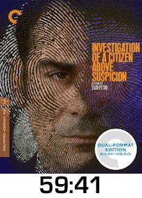 Investigation of a Citizen Above Suspicion Blu-ray Review
