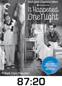 It Happened One Night Bluray Review