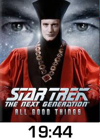 Star Trek All Good Things Bluray Review