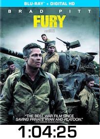 Fury Bluray Review