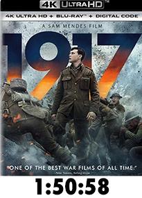 1917 Blu-Ray 4k Review