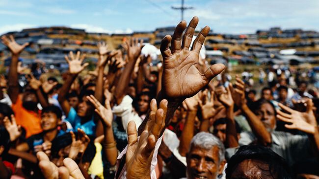 Worldwide protests in support of the Rohingya Muslims