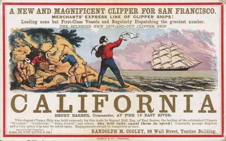 californai gold rush history of gold