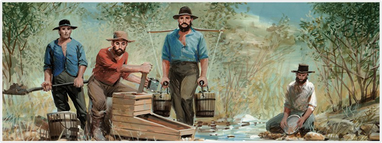 history of gold california gold rush