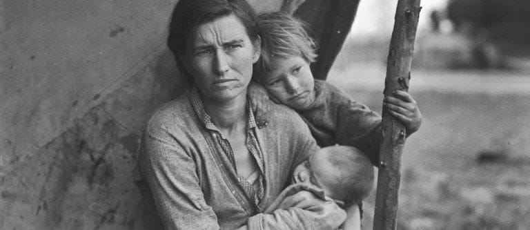 the great depression woman and kids