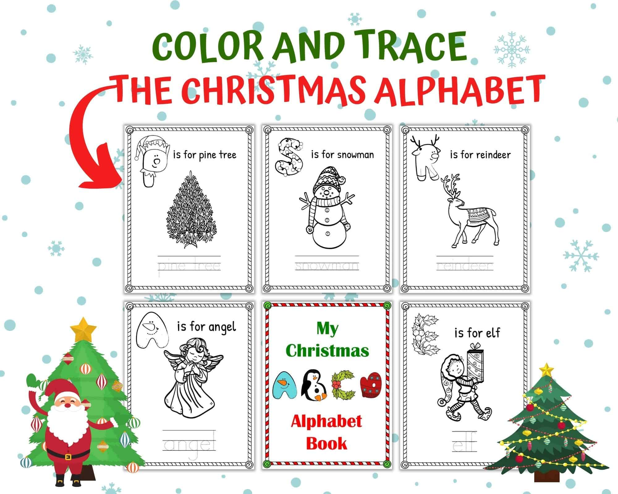 Free Christmas Alphabet Worksheets For Kindergarten