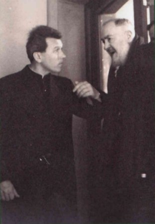 A young Fr. Dollinger with St. Pio