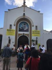 Cozumel church of San Miguel near site of first mass