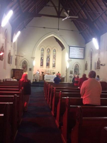 Denise in Gundagai Australia. (St Patrick's Parish...only 20 parishioners only permitted at Pentecost)